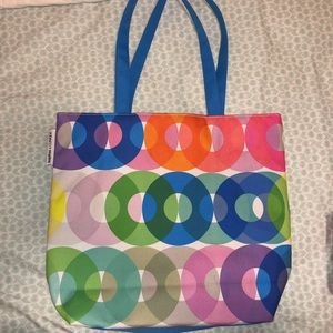 Tote bag with matching makeup bag